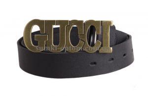 Кожаный ремень с бляхой Gucci
