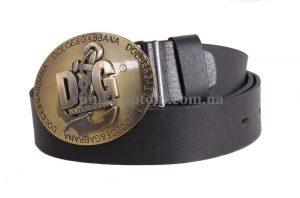 Стильный кожаный ремень с бляхой D&G