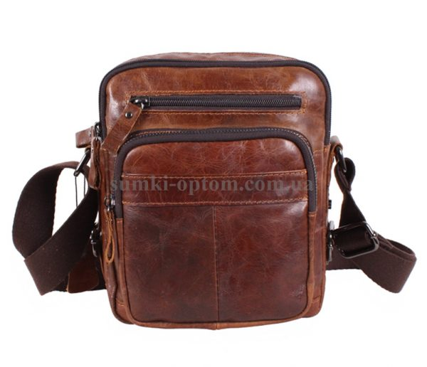 Многофункциональная мужская сумка из натуральной кожи