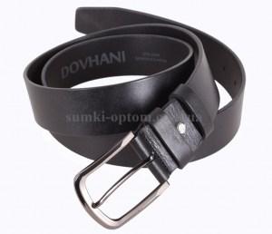 Черный кожаный ремень Dovhani