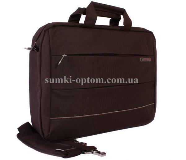 Коричневая сумка для ноутбука