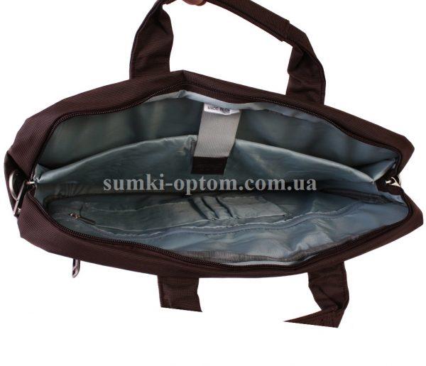 Коричневая сумка для ноутбукас