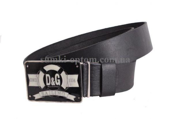 Мужской кожаный ремень с бляхой D&G