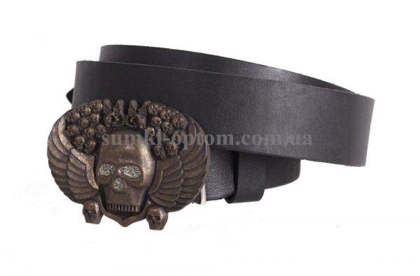 Мужской кожаный ремень с бляхой blx3090334