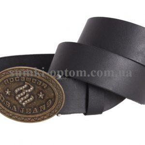 мужской кожаный ремень с бляхой blx3090363