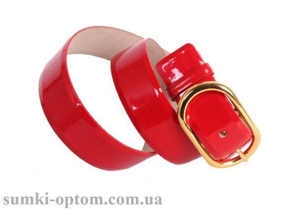 женский кожаный ремень red106