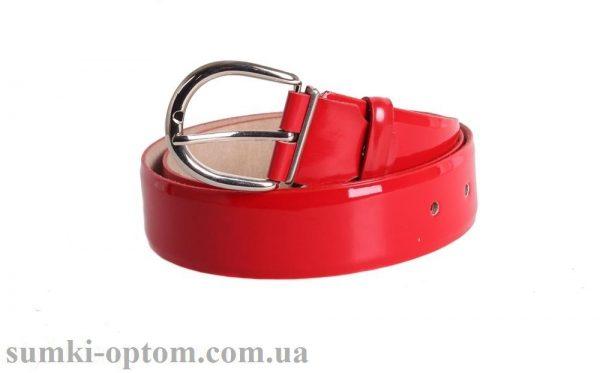 женский кожаный ремень red107