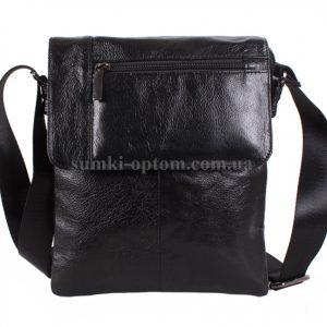 Мужская кожаная сумка из натуральной кожи черного цвета