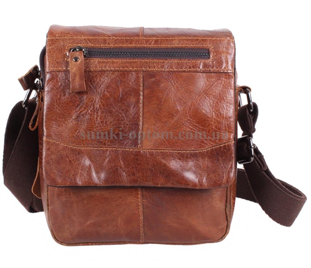 9ca99a12a6e5 Вместительная мужская сумка из натуральной кожи Коричневая купить ...