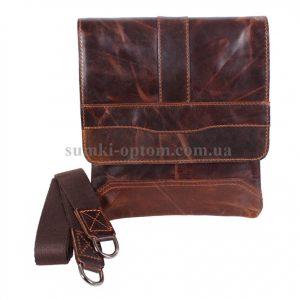 Мужская сумка через плече с натуральной кожи