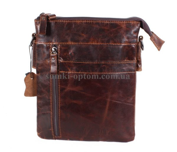 Мужская кожаная сумка из винтажной кожи