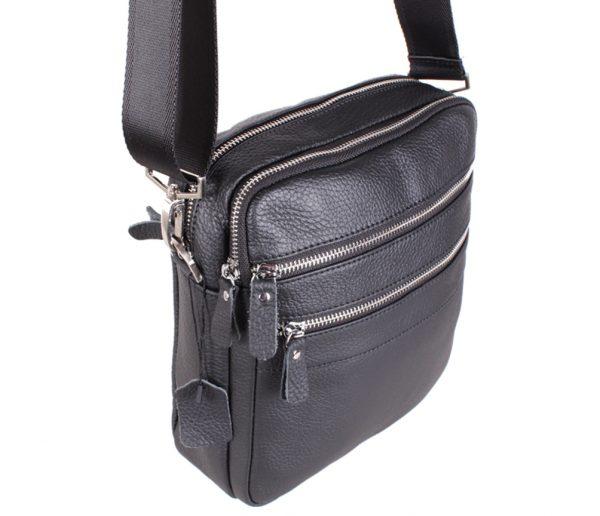 Удобная мужская сумка из натуральной кожи