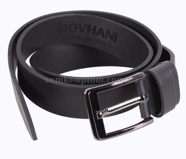 Кожаный ремень Dovhani Italy с пряжкой с язычком