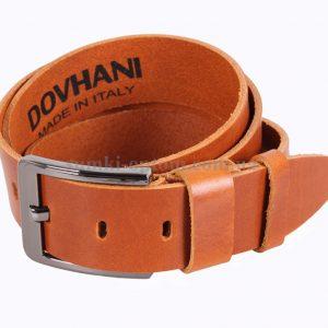 Рыжий кожаный ремень Dovhani Italy