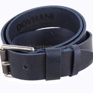 Синий кожаный ремень Dovhani Italy