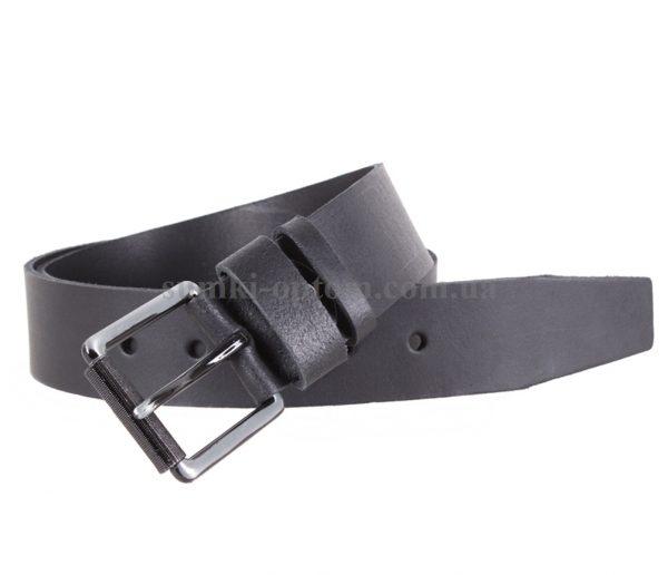 Черный кожаный ремень Dovhani Italy