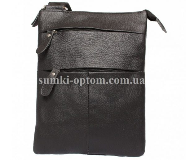 Компактная сумка из натуральной кожи